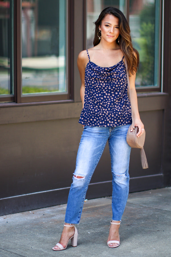 Need a Reason Cowl Neck Leopard Top - Madison + Mallory