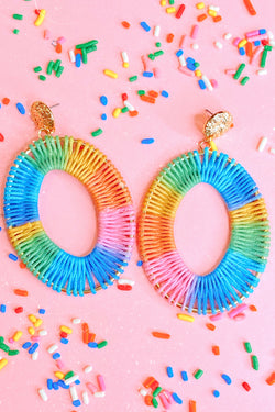 Blue Confectionery Multi Color Drop Earrings - Madison and Mallory