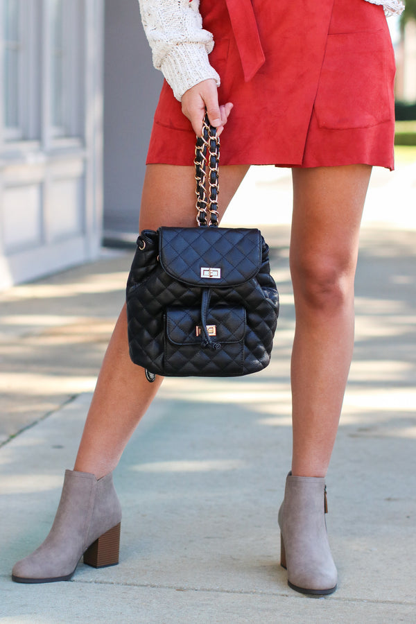 Suit Yourself Quilted Backpack - Madison + Mallory