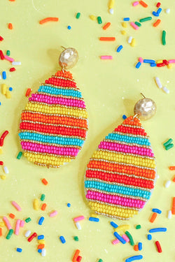 Multi Colors of the Wind Beaded Earrings - Madison and Mallory