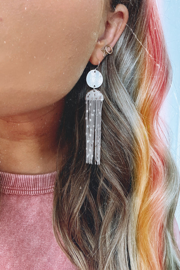 Silver Shimmy and Shake Drop Earrings - Madison and Mallory