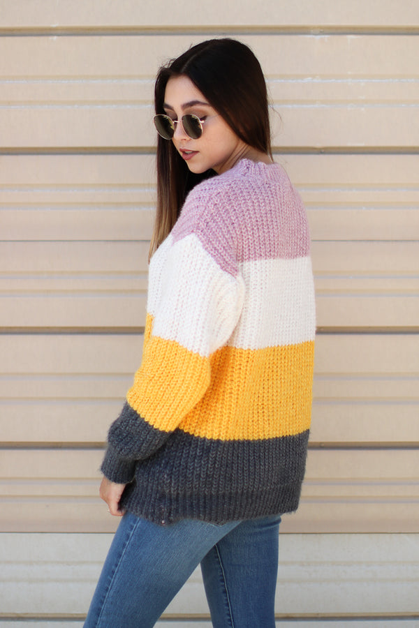 Jayce Color Block Sweater - Madison + Mallory