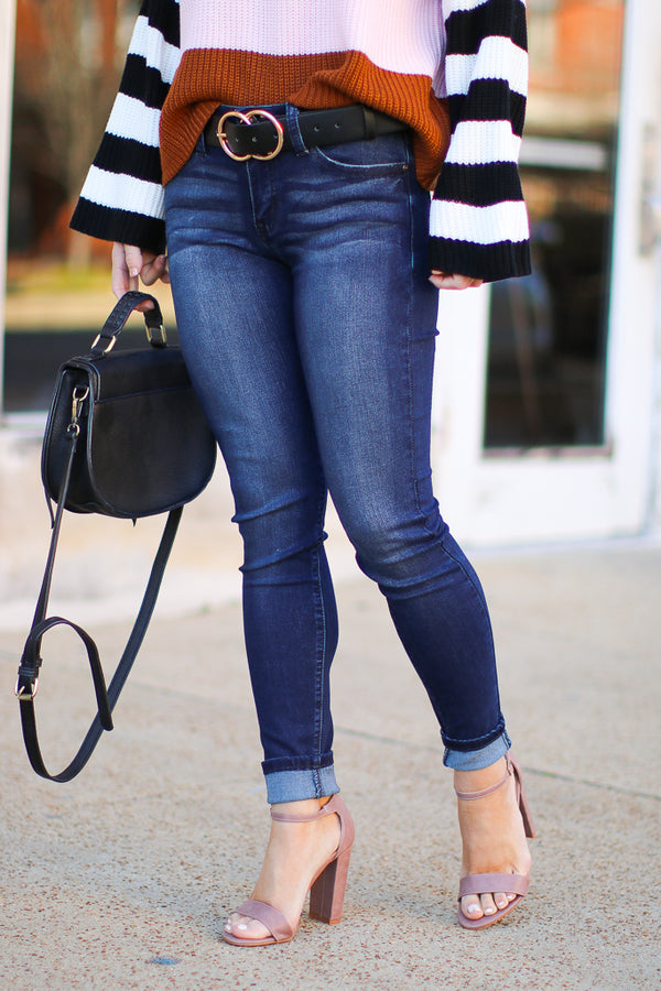 3/25 / Dark Kala Skinny Jeans - Madison + Mallory