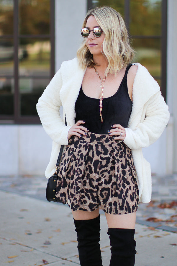 S / Leopard Sweet Spot Leopard Shorts - Madison + Mallory