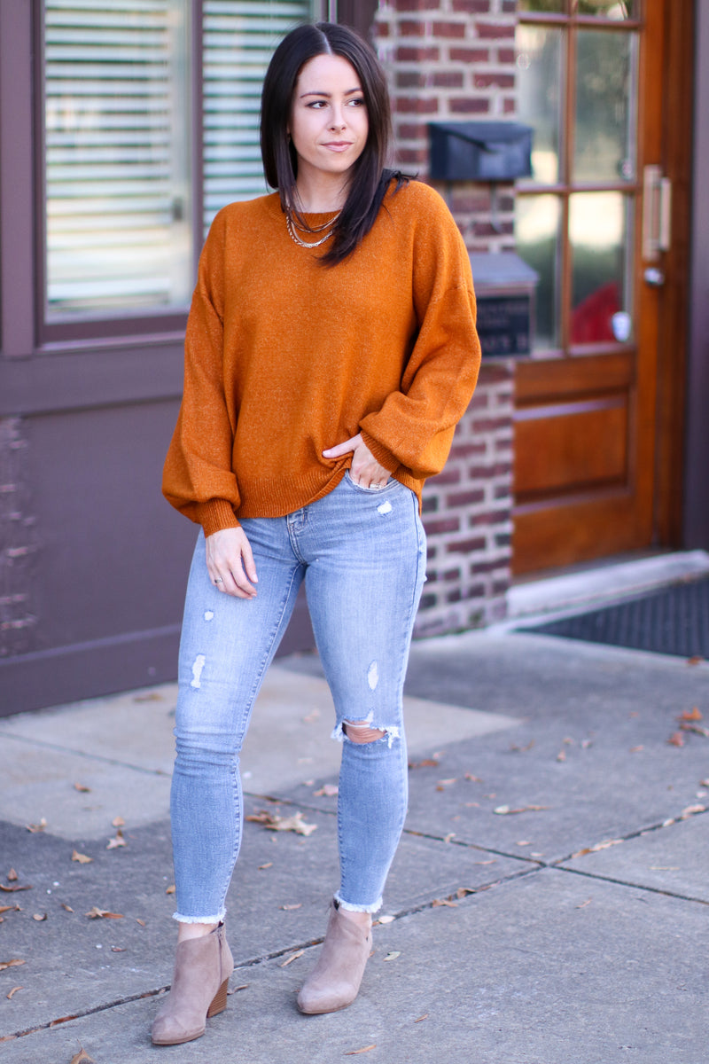 Fairlea Balloon Sleeve Sweater | Doorbuster - Madison and Mallory
