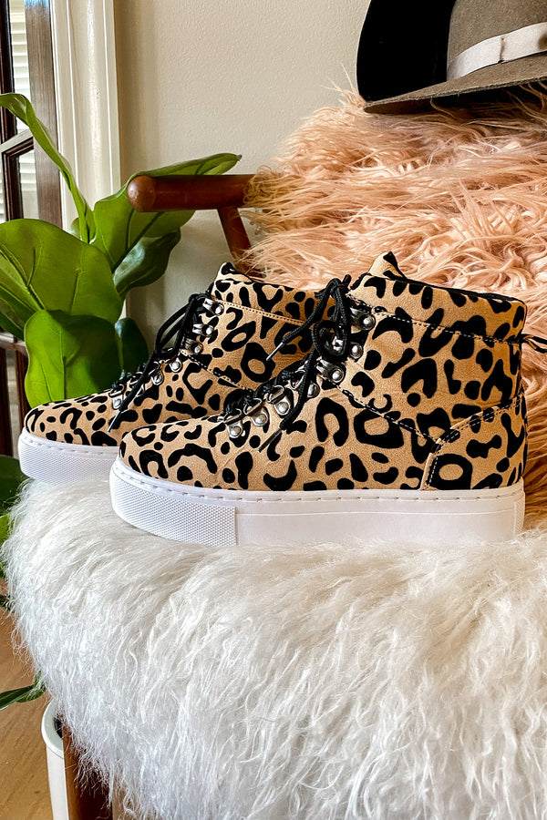 6 / Leopard Transit High Top Leopard Sneakers - Madison and Mallory