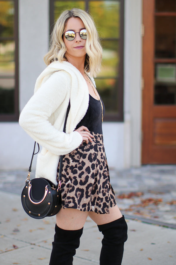Sweet Spot Leopard Shorts - Madison + Mallory