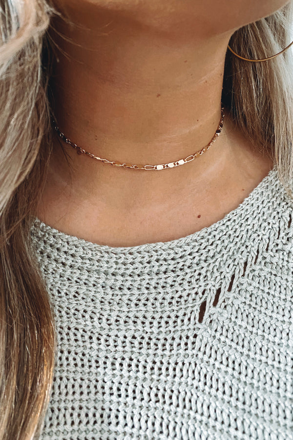 Gold Kadira Dainty Chain Necklace - Madison and Mallory