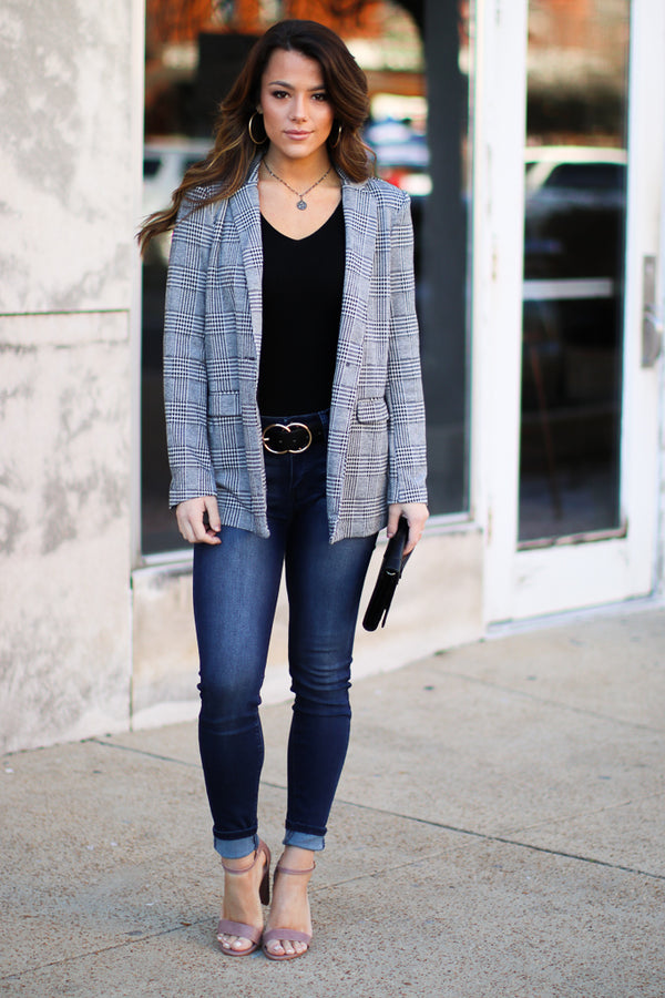Big Moves Plaid Blazer - Madison + Mallory