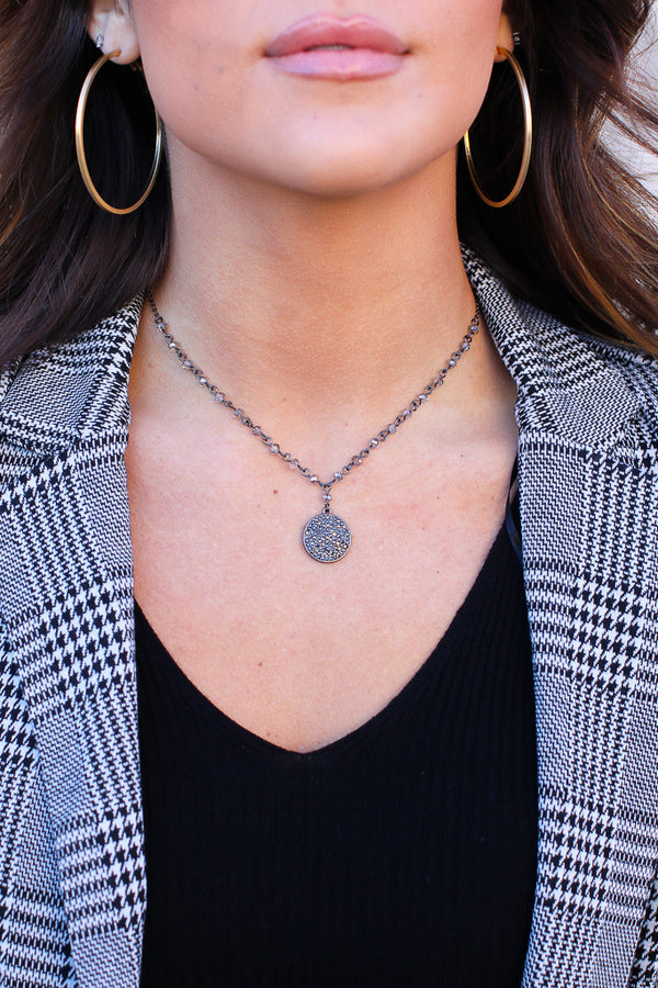 OS / Black All I Can Do Coin Necklace + MORE COLORS - Madison + Mallory