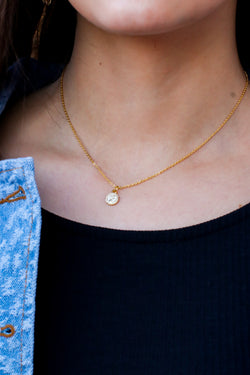 Gold Lexa Dainty Coin Necklace - Madison and Mallory