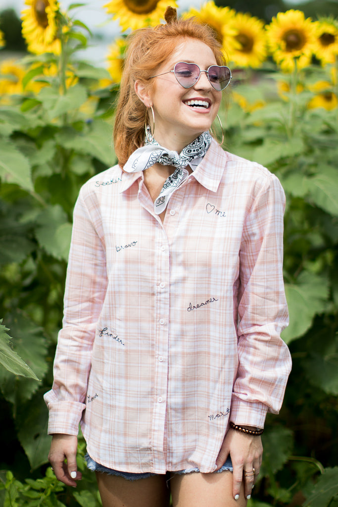Inspire Me Button Down - Madison + Mallory