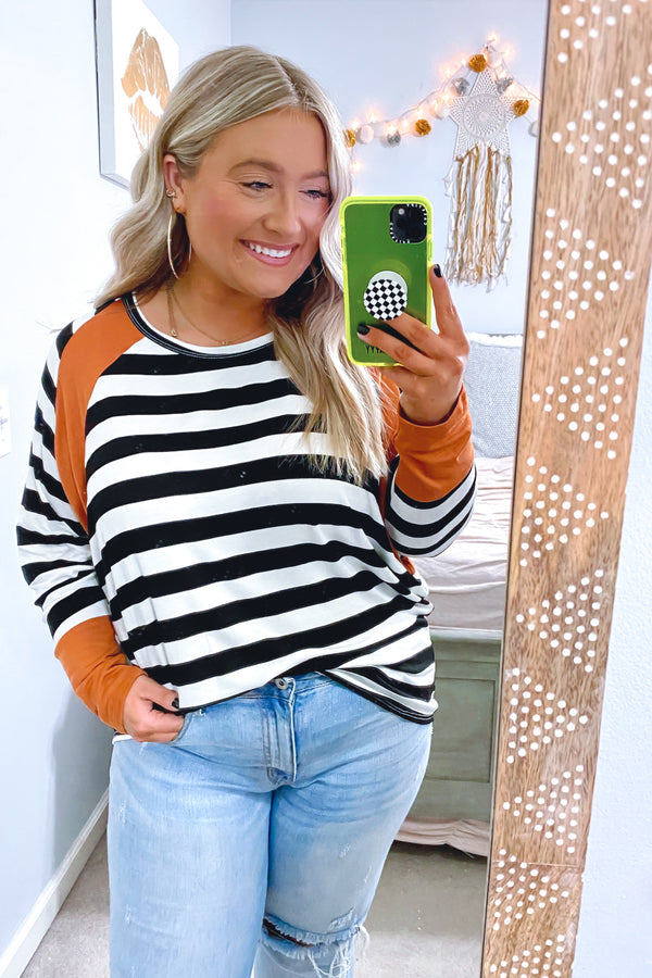 According to You Striped Color Block Top - Madison and Mallory