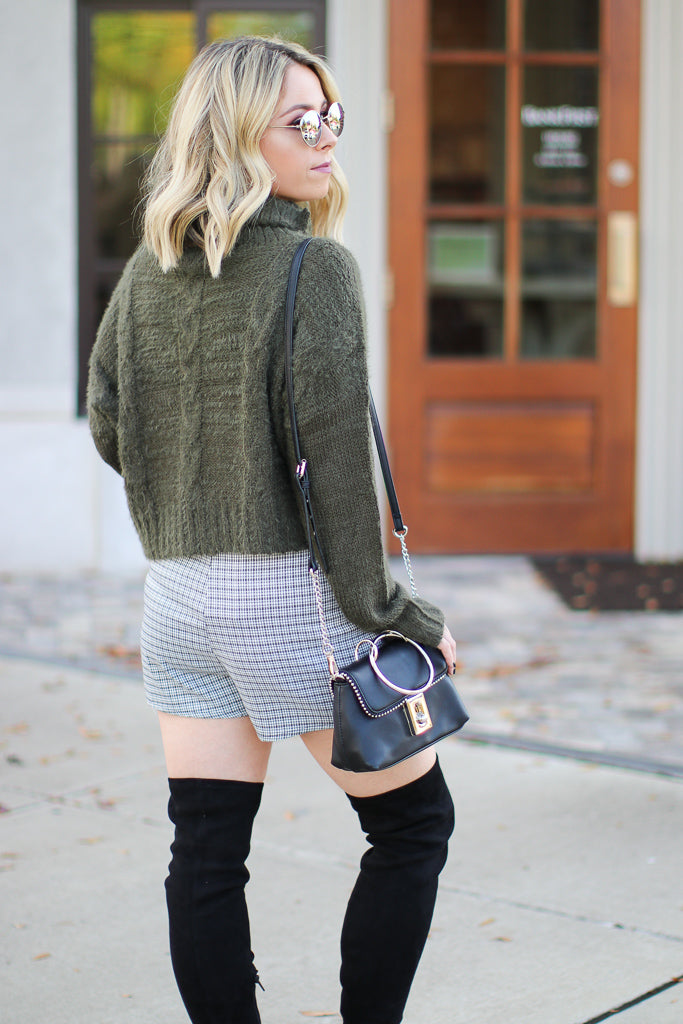 Kayson Plaid Wrap Skort - Madison + Mallory