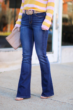 1/24 / Denim Maia Flare Jeans - FINAL SALE - Madison and Mallory