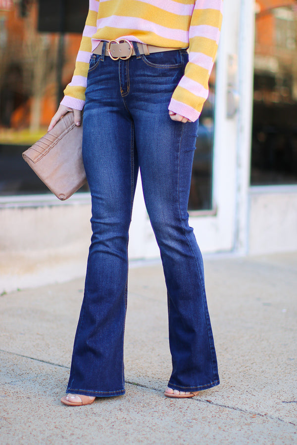 1/24 / Denim Maia Flare Jeans - FINAL SALE - Madison + Mallory