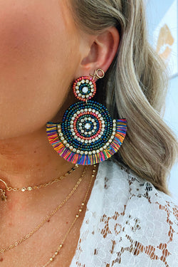 Multi Lively Beaded Accent Earrings - Multi - Madison and Mallory