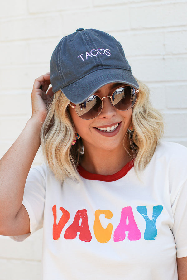 Black Taco Love Embroidered Hat - Madison and Mallory