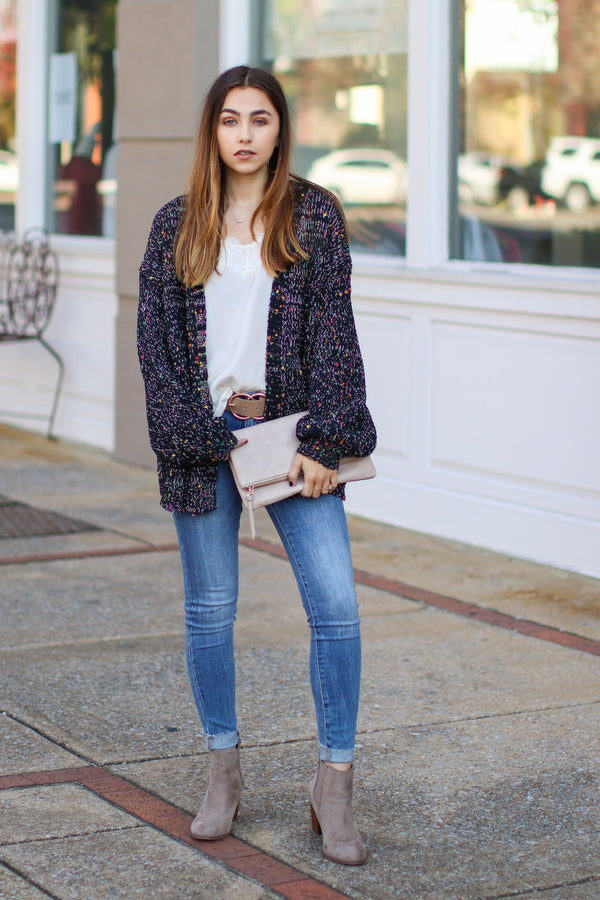 Double Take Multi Color Knit Cardigan - Madison + Mallory