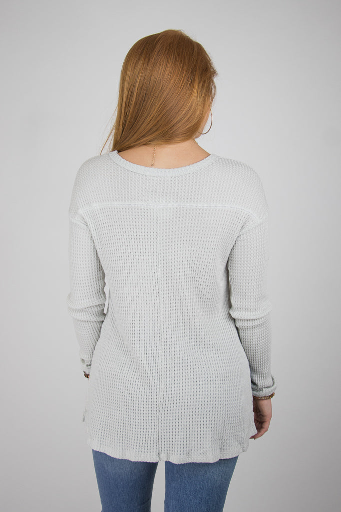 V-Neck Thermal Top - Madison + Mallory