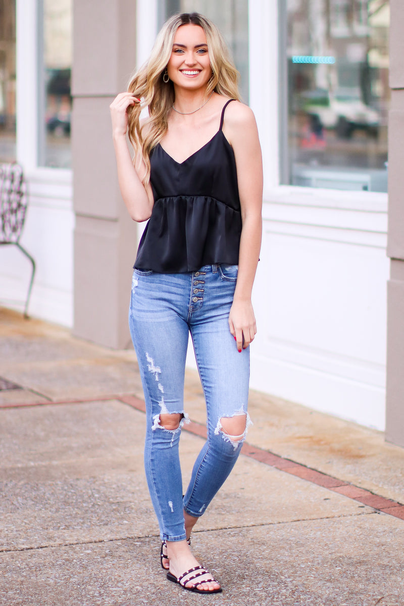 Tilly Distressed Skinny Jeans - Madison and Mallory
