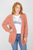 Chenille Button Cardigan - Madison + Mallory