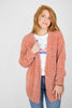 S / Blush Chenille Button Cardigan - Madison + Mallory