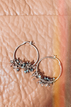 Gold As Luck Would Have It Beaded Hoop Earrings - Madison and Mallory