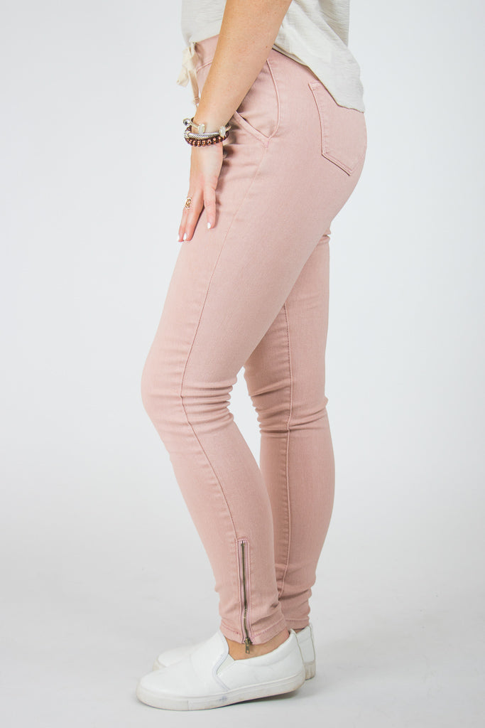 Drawstring Ankle Zip Pants - Madison + Mallory