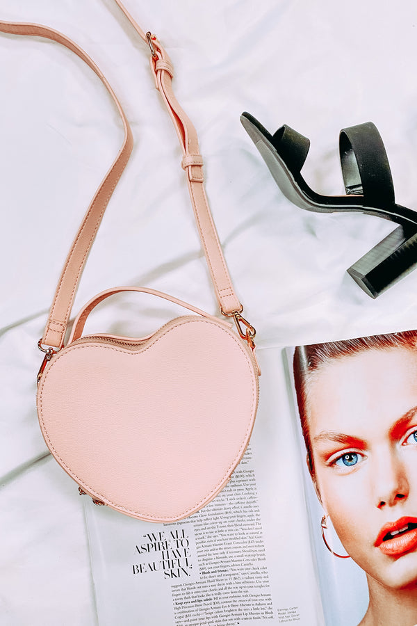 Pink Infatuation Heart Shaped Crossbody Bag - Madison and Mallory