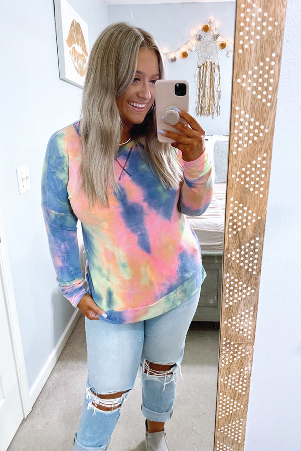 Back to It Tie Dye Pullover - Madison and Mallory