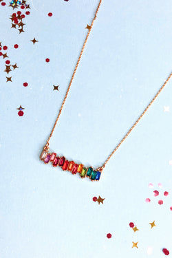 Multi Maybe it was Magic Rainbow Necklace - Madison and Mallory