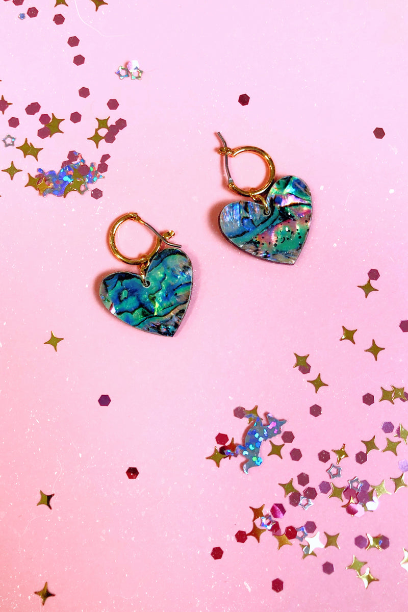 Love Story Heart Drop Earrings - Madison and Mallory