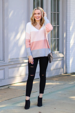 Traverse Color Block Sweater - Madison + Mallory