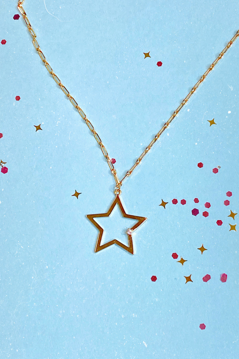 Gold Now Starring 14K CZ Star Necklace - Madison and Mallory
