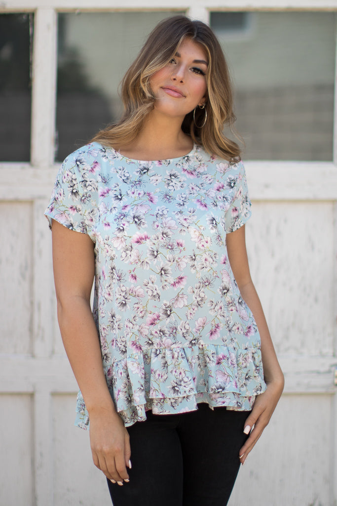 Gentle On My Mind Floral Top - Madison + Mallory