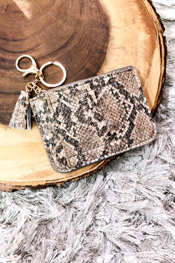Brown Up Next Animal Print Keychain Wallet - Madison and Mallory