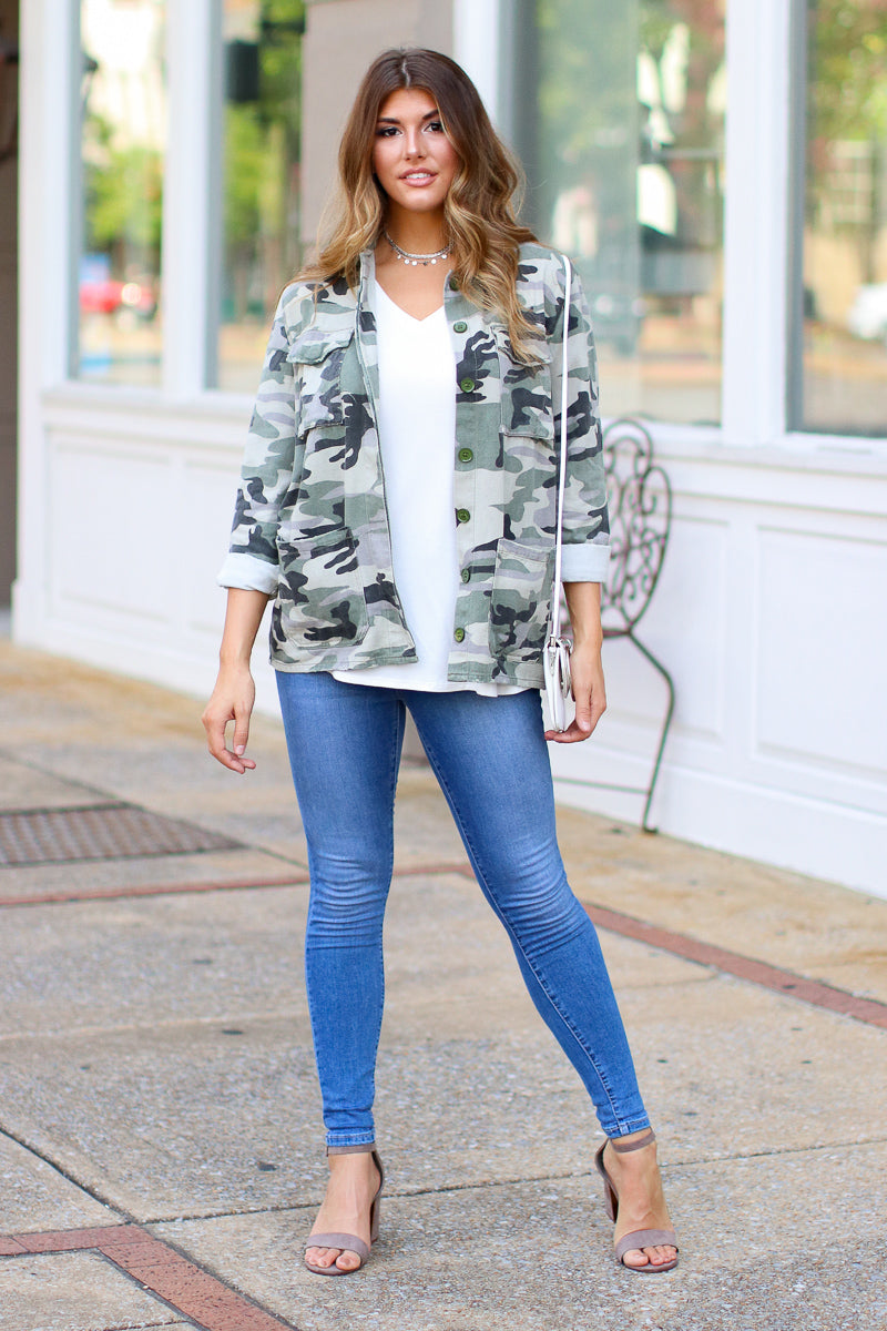 Tarni Camo Jacket - FINAL SALE - Madison + Mallory