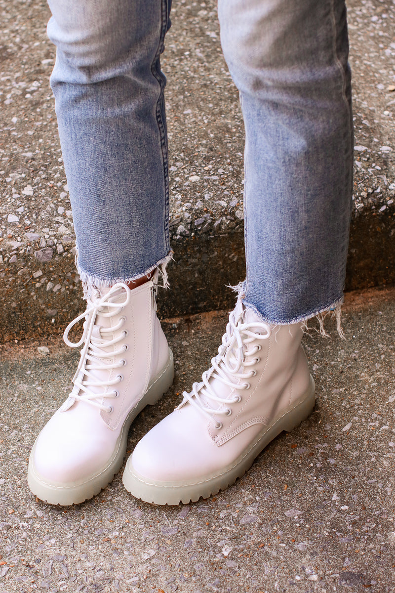 My Generation Faux Leather Combat Boots - Madison and Mallory