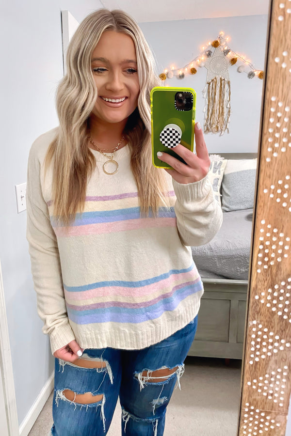Emmerson Striped Knit Top - Madison and Mallory