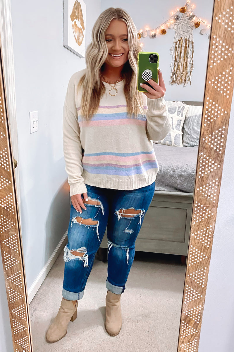 Emmerson Striped Knit Top - FINAL SALE - Madison and Mallory