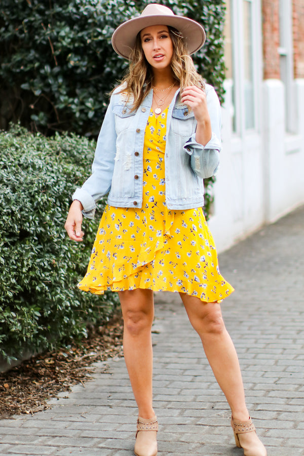 Sharee Dainty Floral Flutter Dress - Madison and Mallory