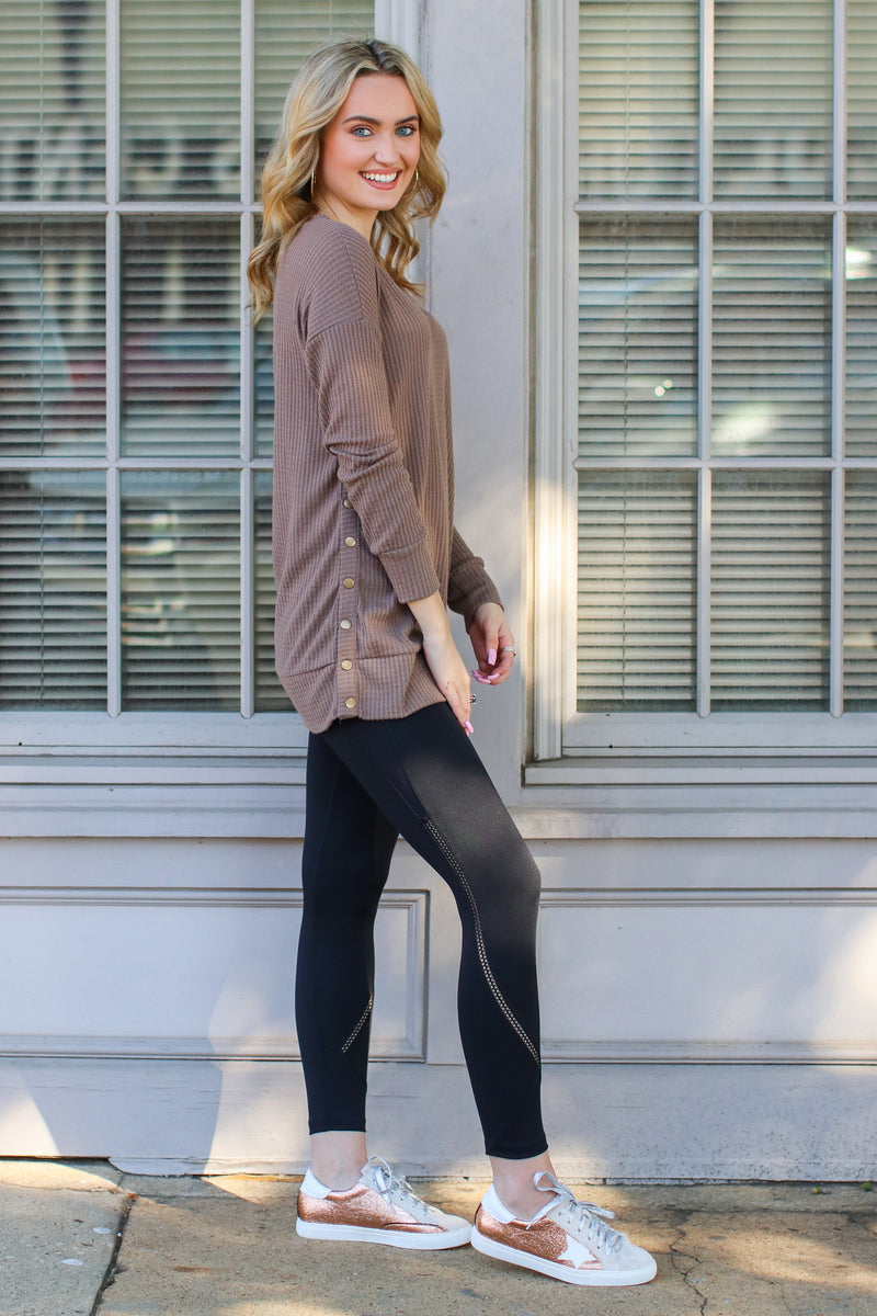 Style Note Mesh Accent Leggings - Madison + Mallory