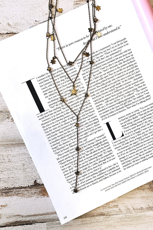Chase the Stars Layered Drop Necklace - Madison and Mallory