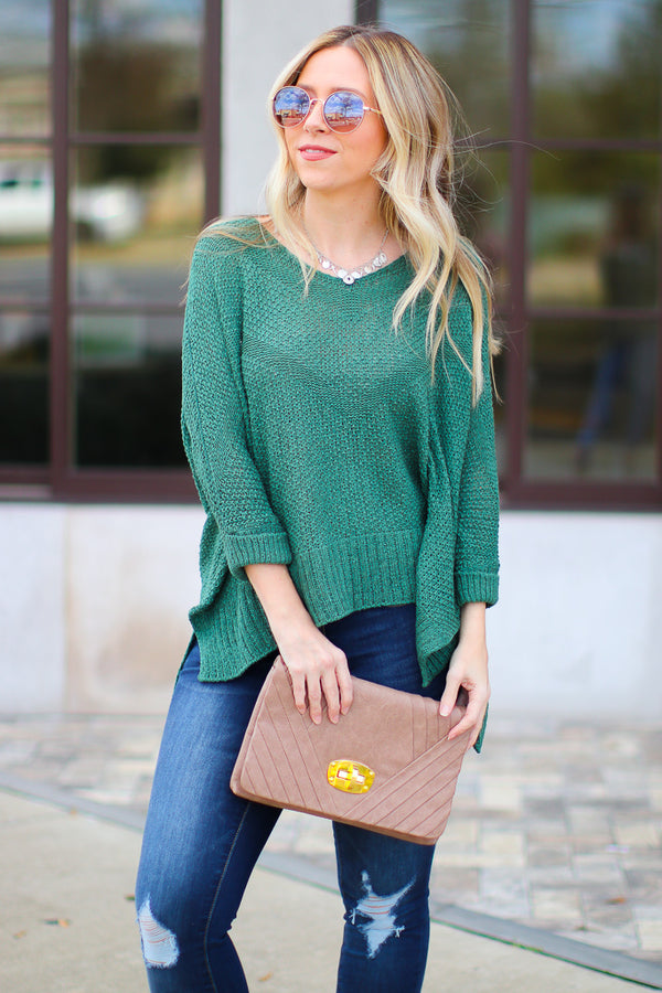 SM / Green Conway Knit Sweater - Madison + Mallory