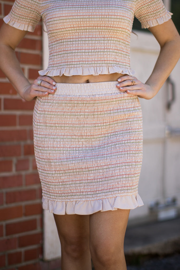 Sweet Escape Smocked Skirt - FINAL SALE - Madison + Mallory