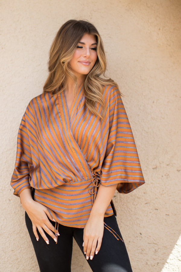 S / Sunset Sunset Kimono Wrap - FINAL SALE - Madison + Mallory