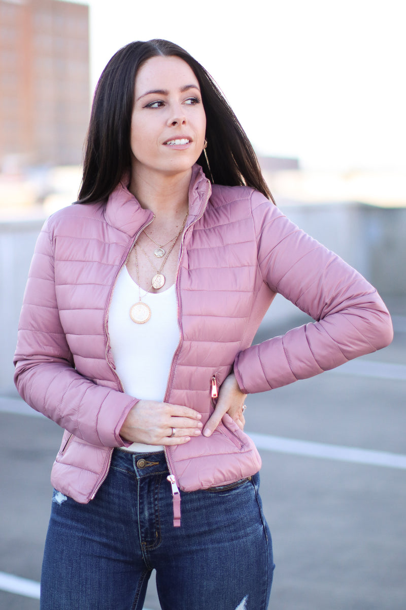 Cool Times Quilted Puffer Jacket | Doorbuster - Madison and Mallory