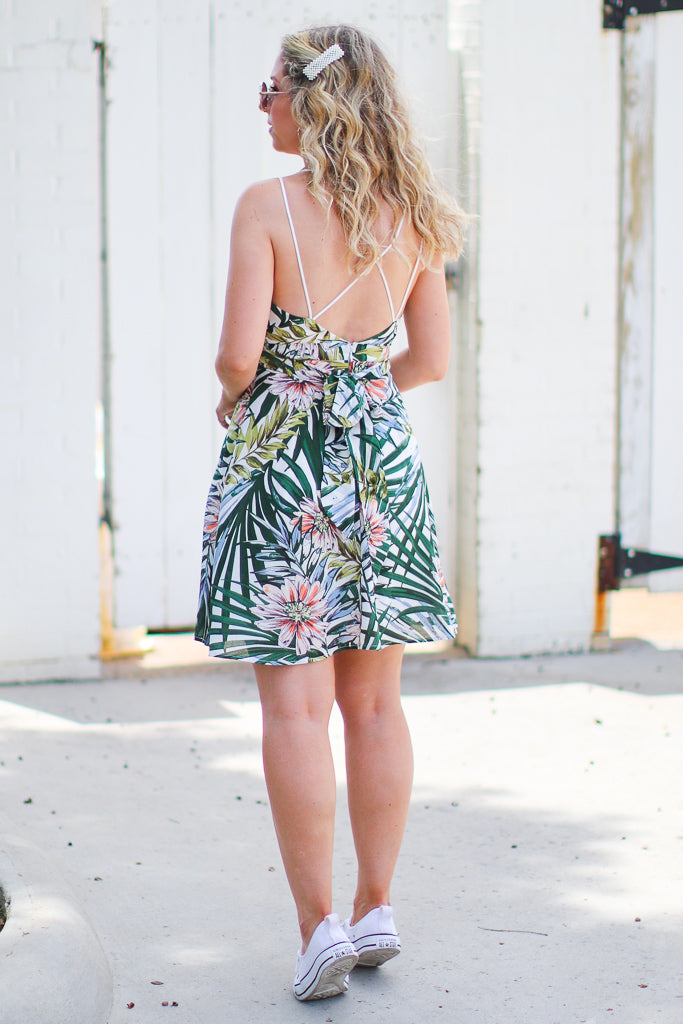 Beyond The Horizon Tropical Print Dress - Madison + Mallory