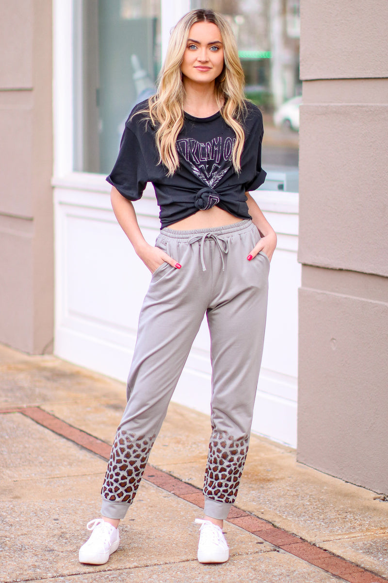Wild Living Animal Print Joggers - Madison and Mallory